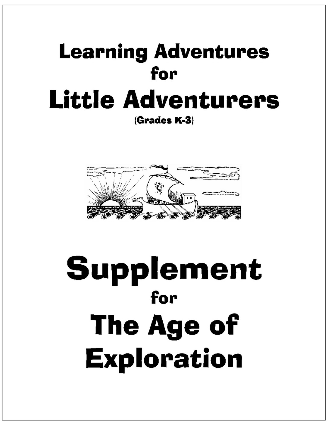 Cover page - Little Adventures - Age of Exploration_2