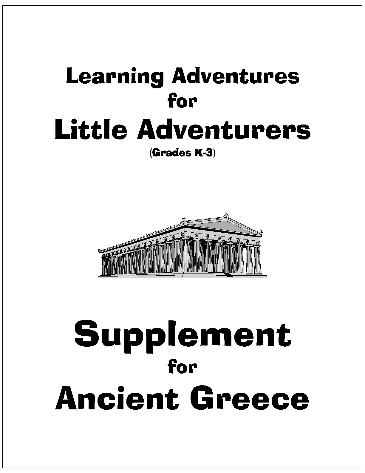 Cover page - Little Adventures - Greece_1