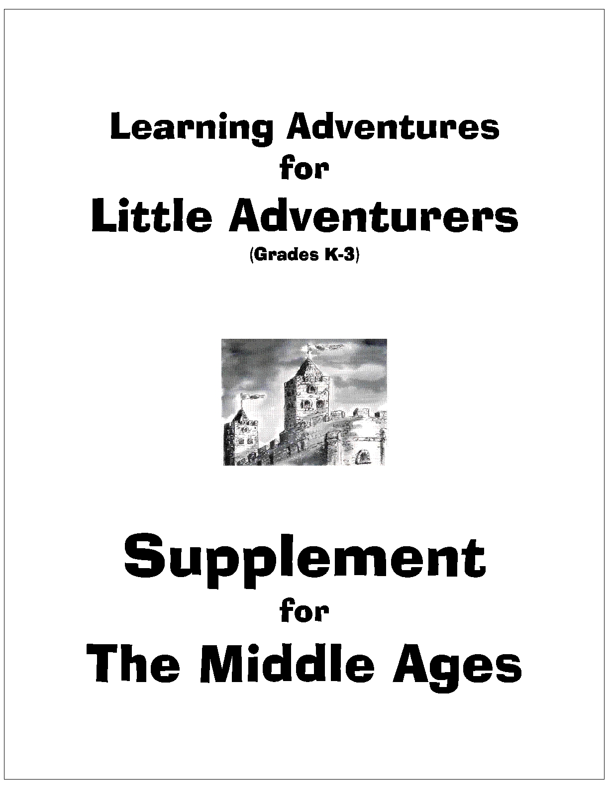 Cover page - Little Adventures - Middle Ages_1