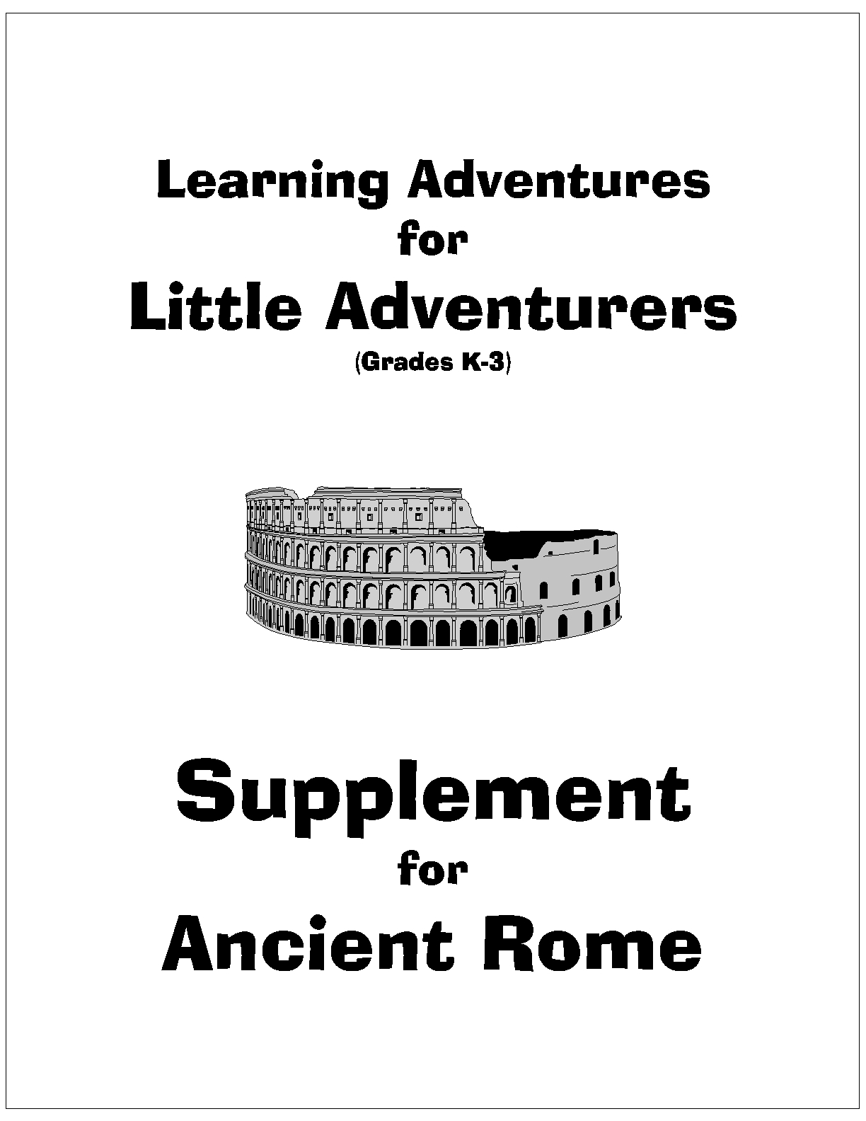 Cover page - Little Adventures - Rome_1