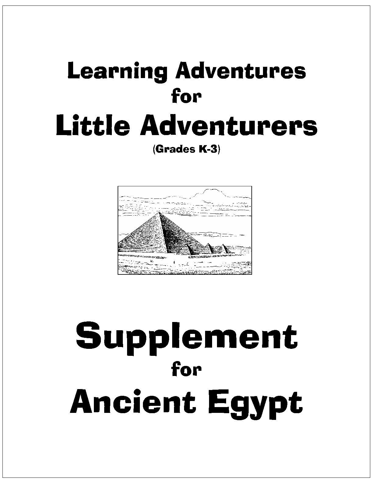 cover page - Little Adventures - Egypt_1